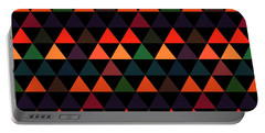 Triangle Abstract Background- Efg208 Portable Battery Charger