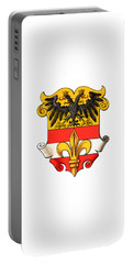 Portable Battery Charger featuring the drawing Triest Coat Of Arms 1467-1919 by Hugo Stroehl