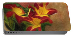 Trio Of Day Lilies Portable Battery Charger