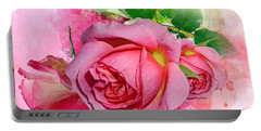 Trio Of Pink Roses Portable Battery Charger
