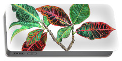 Tropical Croton Portable Battery Charger