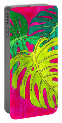 Tropical Foliage Portable Battery Charger