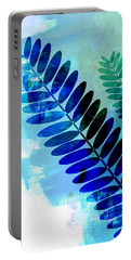 Tropical Leaf Watercolor 3 Portable Battery Charger