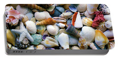 Portable Battery Charger featuring the photograph Tropical Treasure Seashells A91218 by Mas Art Studio