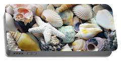 Portable Battery Charger featuring the photograph Tropical Treasure Seashells B91218 by Mas Art Studio
