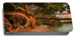 Tropical Tree At North Jetty In Venice, Florida 2 Portable Battery Charger
