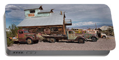 Trucks Lined Up In Nelson Portable Battery Charger