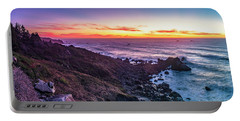 True Love By The Solstice Sunset Portable Battery Charger