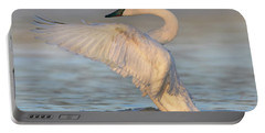 Trumpeter Swans Flapping, Magness Lake Portable Battery Charger