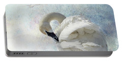 Trumpeter Textures #2 - Swan Preening Portable Battery Charger