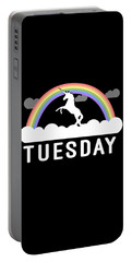 Portable Battery Charger featuring the digital art Tuesday by Flippin Sweet Gear