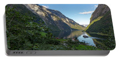 Portable Battery Charger featuring the photograph Tufte, Naerofjord, Norway by Andreas Levi