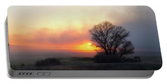 Tule Fog Sunrise  Portable Battery Charger