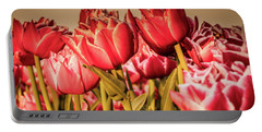Portable Battery Charger featuring the photograph Tulip Fields by Anjo Ten Kate