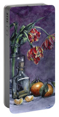 Tulips And Oranges Portable Battery Charger