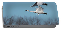 Portable Battery Charger featuring the photograph Tundra Swan Duo by Donald Brown