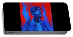 Tupac Shakur  Illustrator Portable Battery Charger