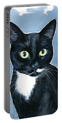 Turhapuro Tuxedo Cat Painting Portable Battery Charger