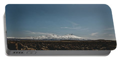 Turkish Landscapes With Snowy Mountains In The Background Portable Battery Charger