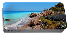 Turquoise Sea And Azure Sky Portable Battery Charger