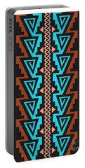 Turquoise Triangle Pattern Portable Battery Charger