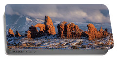 Turret Arch Winter Sunset Portable Battery Charger