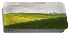Tuscan Landscapes. Hills In The Spring Portable Battery Charger