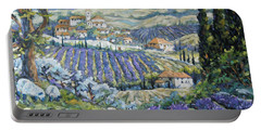 Tuscan Lavender Valleys By Prankearts Portable Battery Charger
