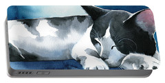 Tuxedo Dream Cat Painting Portable Battery Charger
