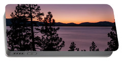 Twilight At Lake Tahoe Portable Battery Charger