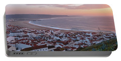 Twilight At Nazare Village Portable Battery Charger