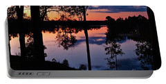 Twilight By The Lake Portable Battery Charger
