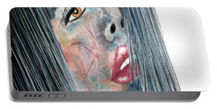 Twilight - Woman Abstract Art Portable Battery Charger