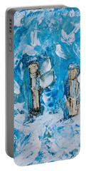 Twin Boy Angels Portable Battery Charger