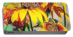 Twin Painted Lady Butterflies Pencil Portable Battery Charger