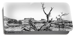 Portable Battery Charger featuring the photograph Twisted Death In The Desert by Andy Crawford
