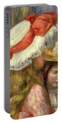 Two Girls With Hats, Circa 1890  Portable Battery Charger