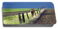 Two Horses In The Palouse Portable Battery Charger