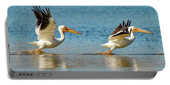 Two Pelicans Taking Off Portable Battery Charger