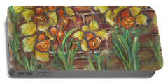 Two Toned Daffodils Portable Battery Charger