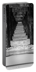 Under The Pier #2 Bw Portable Battery Charger