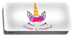 Unique Is Magical - Baby Room Nursery Art Poster Print Portable Battery Charger