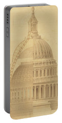 United States Capitol, Section Of Dome, 1855 Portable Battery Charger