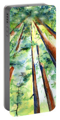 Up Through The Redwoods Portable Battery Charger