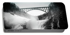 Upper Falls At Letchworth State Park Portable Battery Charger