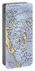 Useppa,cabbage Key,cayo Costa Nautical Chart Portable Battery Charger
