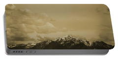 Utah Mountain In Sepia Portable Battery Charger