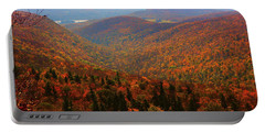 Portable Battery Charger featuring the photograph Valley Below Mount Greylock by Raymond Salani III