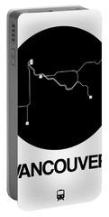 Vancouver Black Subway Map Portable Battery Charger
