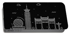 Vancouver Skyline Travel Poster Portable Battery Charger
